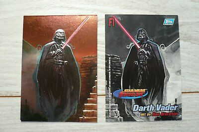 lot 5 Topps Star Wars Finest Embossed Chase Card F1 + F2 + F3 + F4 + F5