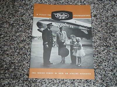 """Old Delta C & S Airlines """"inside Story Of How An Airline Operates"""" Brochure"""