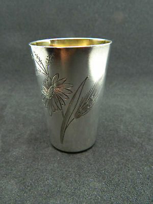 Vintage SHOT GLASS Silver 875 RUSSIA 37.91 g