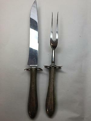 W.R. Humphreys Sterling Silver Handles with Stainless Steel Carving Set England