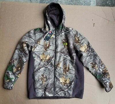 9a56fea88c91d Under Armour Men's Stealth Hooded Jacket sweater 1283119 Oak hunting XL $160