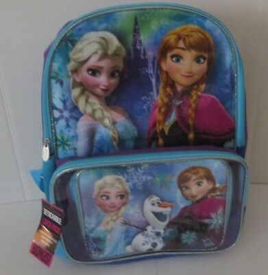 Disney Frozen Elsa & Anna Girls 2 Piece Standard Backpack Set Lunch Bag NEW TAGS