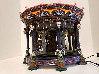 Department 56 Snow Village Halloween ghostly carousel retired