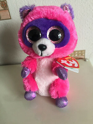 TY Beanie Boo 6inch - NEW - ROXIE THE RACOON 823dd9dc987