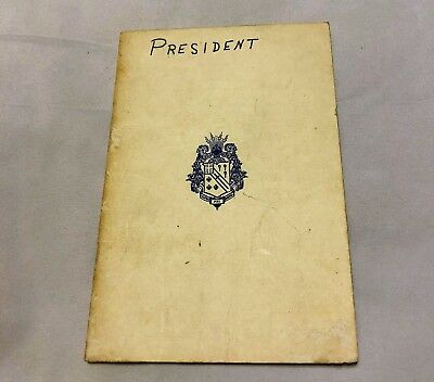 1965 Alpha Phi Omega Fraternity Booklet with Ritual and Other Ceremonies