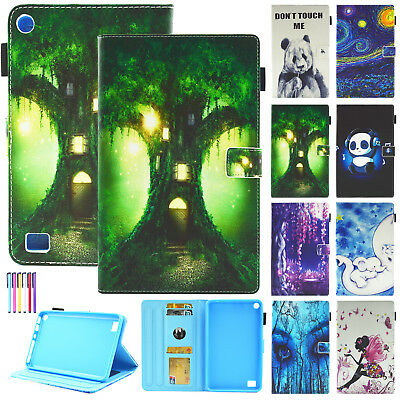 """For Amazon Kindle Fire 7 2017 / 2015 7"""" Inch Tablet Smart Flip Stand Case Cover"""