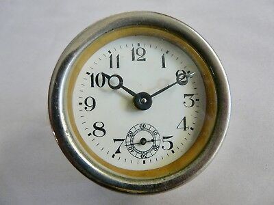 Vintage Small Desk Clock Insert Movement with Sub-second Hand Working