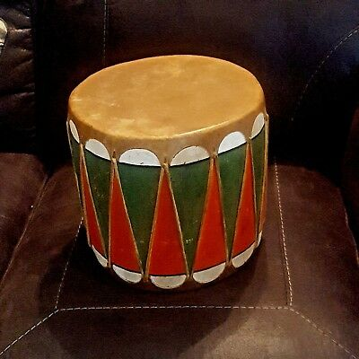 NATIVE AMERICAN INDIAN DRUM, ANTIQUE.  Reduced!!