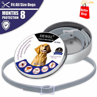 63cm DEWEL Flea and Tick Collar for Large Dogs 8 Month Protection FREE SHIPPING