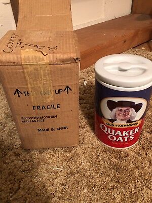 Cookie Jar - Quaker Oats 120th Anniversary Limited Edition 1877-1997 - Last One!