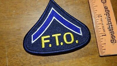 Connecticut State Police Field Training Officer F.t.o. Patch Bx G#7