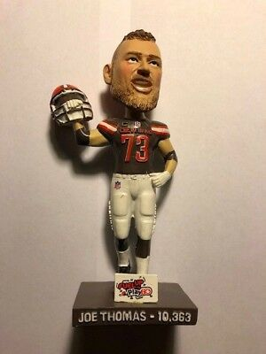 Joe Thomas Bobblehead Cleveland Browns Wisconsin SGA 10/14/18 Ring of Honor
