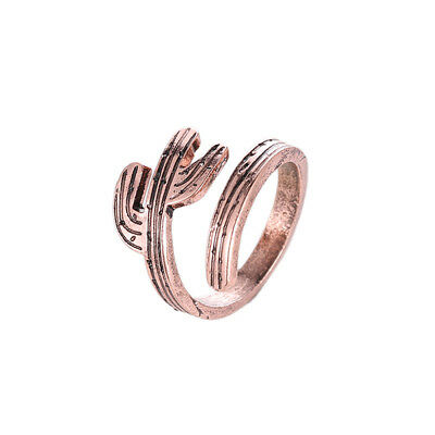 Girls Ring Charms Tree Branch Cactus Open Rings Adjustable Ring Gift Vintage G