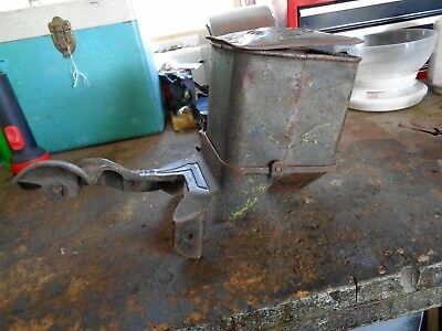Vintage Planet Jr  No 25  Drill Seeder Hooper with Metal Frame