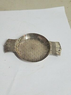 A Rare William Spratling Sterling Silver Tea Strainer Taxco Mexico
