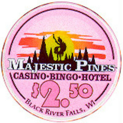 Majestic Pines Casino $2:50 Chip Snapper - Wisconsin