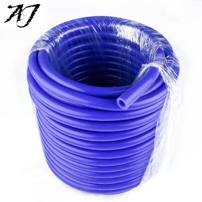 "AJ For 20 Feet 1/8"" 3mm Fuel Air Silicone Vacuum Hose Line Tube Pipe Blue"