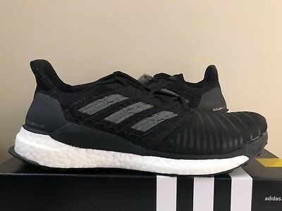 more photos 37a28 54579 Adidas Solar Boost M Black CQ3171 Size 8-13 Men s Running 100% Authentic