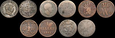 Mixed German States - Lot of 5 coins, 1700's and 1800's