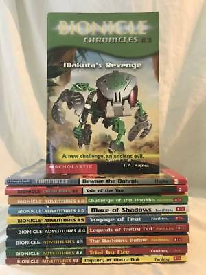 Lot of 10 BIONICLE Chapter Book series by Greg Farshtey ADVENTURES & CHRONICLES