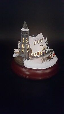 "Thomas Kinkade Victorian Lights ""Moonlit Church"" Hawthorne Village Collection"