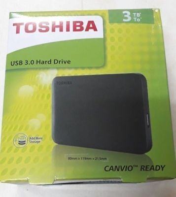Toshiba Canvio Basics 3TB Brand new Hard Drive Portable bought from DELL