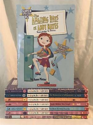Lot of 8 THE AMAZING DAYS OF ABBY HAYES Chapter Books by Anne Mazer