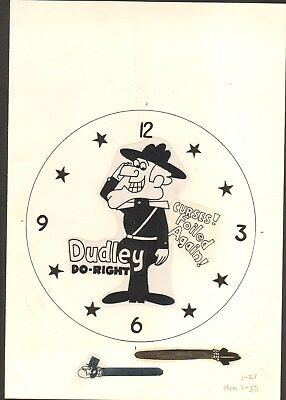 Dudley Do-Right -Original Concept Art Work-Bradley Time Watch Concept With Hands