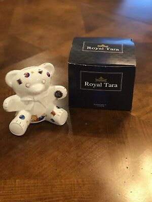 Royal Tara Fine Bone China Teddy Bear Bank Gallway Ireland Great Baby Gift