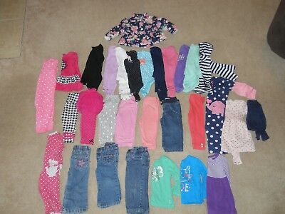 Lot of 30 Toddler Baby Girls Fall Winter Clothes Size 12months