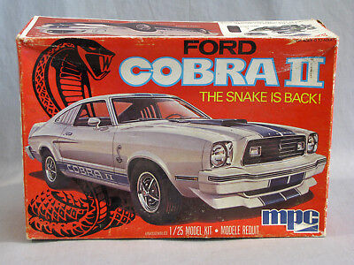Vintage 1976 MPC FORD COBRA II MUSTANG MODEL CAR KIT - WITH BOX - UNBUILT