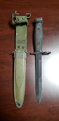 Military Us M7 Boc Bayonet With M8A1 Scabbard