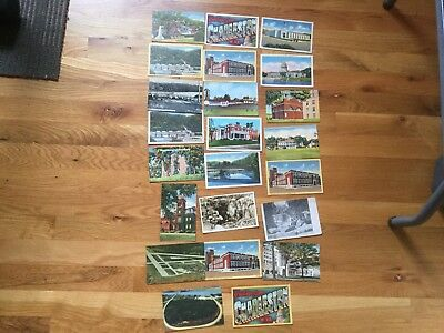 old vintage un-used U.S.A postcards except one 1911, Harpers Ferry, John Brown
