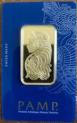 1 oz Gold Bar PAMP Suisse Lady Fortuna .9999 Pure Gold! #1774