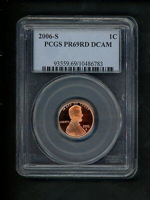 2006-S US Lincoln Memorial Cent 1c .01 PCGS PR69 RD DCAM Red Proof Deep Cameo