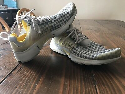 quite nice half off factory outlet NIKE AIR PRESTO Woven Alpha Rare Gray Yellow Off White Size ...