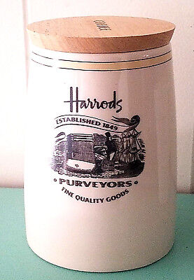 Harrods of London Ceramic Coffee Canister