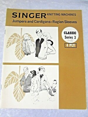 SINGER Knitting Machine PATTERN BK- Classic Series 3- 4 ply - Cardigans, Jumpers