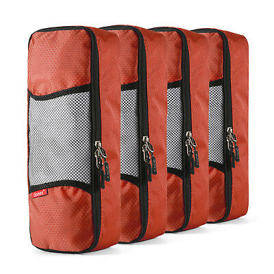 4pc Travel Packing Organizer Cubes Clothes Storage Bags Luggage Set Pouch