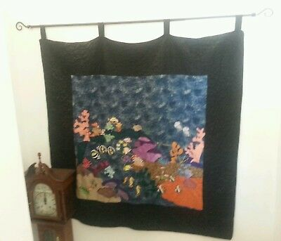 Applique Wall Hanging - Hand Made Beach Theme / Tropical Fish / Under Water :)