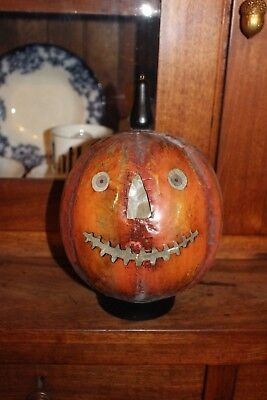 TIN Halloween Jack O Lantern Parade Lantern Repro ~ Wonderful Detail Looks OLD!