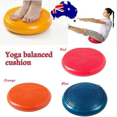 Inflatable Air Yoga Massage Cushion Mat Balance Disc Fitness Gym Exercise Train