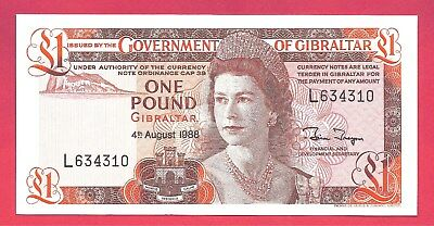 Gibraltar 1988 1 Pound P-20e High Grade