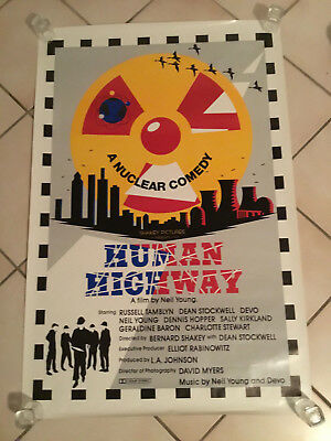 Vintage 1982 Human Highway 27 X 41 Movie One Sheet Devo Neil Young Promo Poster