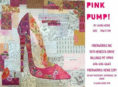 Laura Heine -Pink Pump Collage Pattern