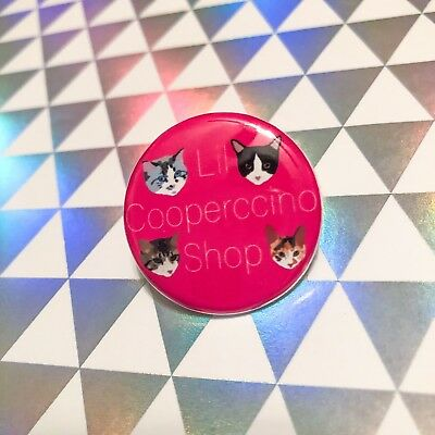 Lil Cooperccino Shop Logo Pin Back Button