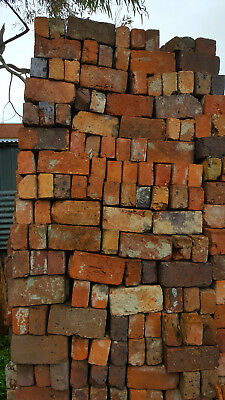 Handmade bricks around 150 years old made in Melbourne Various colours
