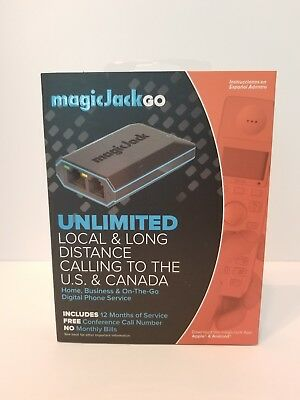 Magic Jack Go (Latest Model) 12 Months FREE of serivce.  Factory Sealed