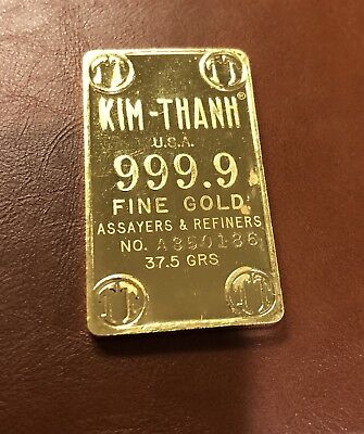 Gold Bar 1.2057 oz Kim Thanh Vietnam Bullion  ( 37.5 grams ) well OVER 1 ounce