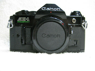 Canon  AE-1 Program  Film Camera. Cosmetically excellent but Light Meter Fault